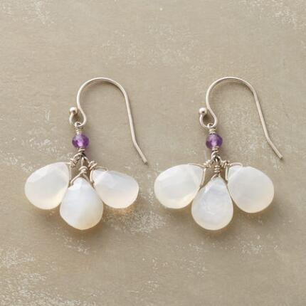 MOONSTONE TRIPLET EARRINGS