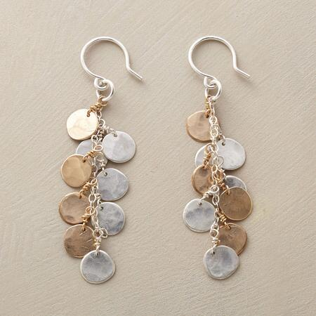 COINS IN A FOUNTAIN EARRINGS