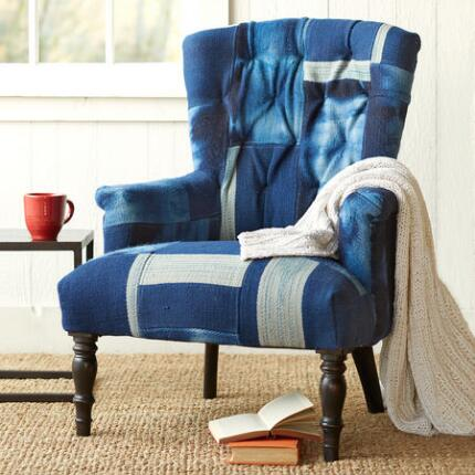 INDIGO SKIES PATCHWORK CHAIR