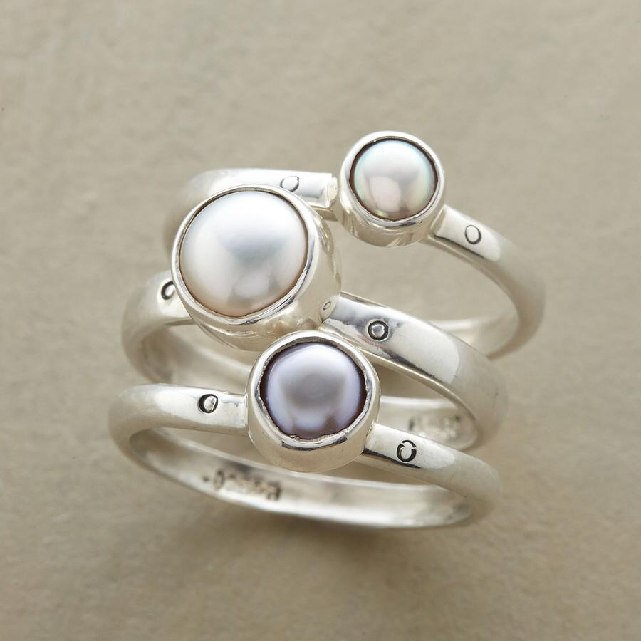 PEARL SISTERS RING TRIO