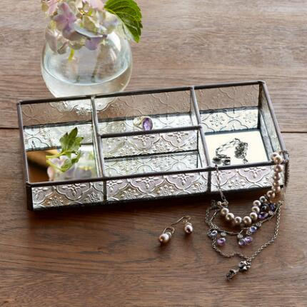 KENSINGTON GLASS JEWELRY TRAY