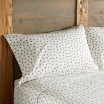 WHITE DITSY PILLOWCASES S/2