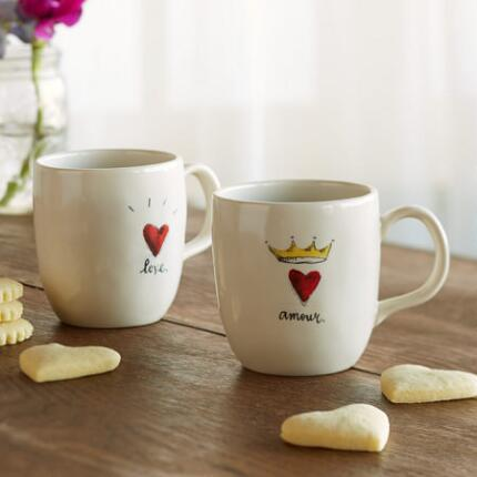 LOVE AND AMOUR MUGS, SET OF 2