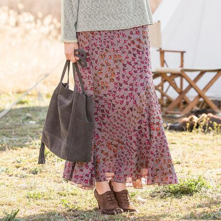 TRAILING BLOSSOMS SKIRT