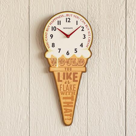 ICE CREAM CONE CLOCK