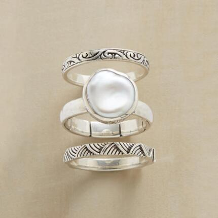 PEARL & PALS RINGS, SET OF 3