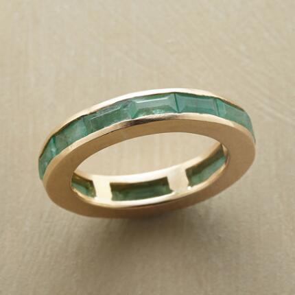 CIRCLE OF EMERALDS RING