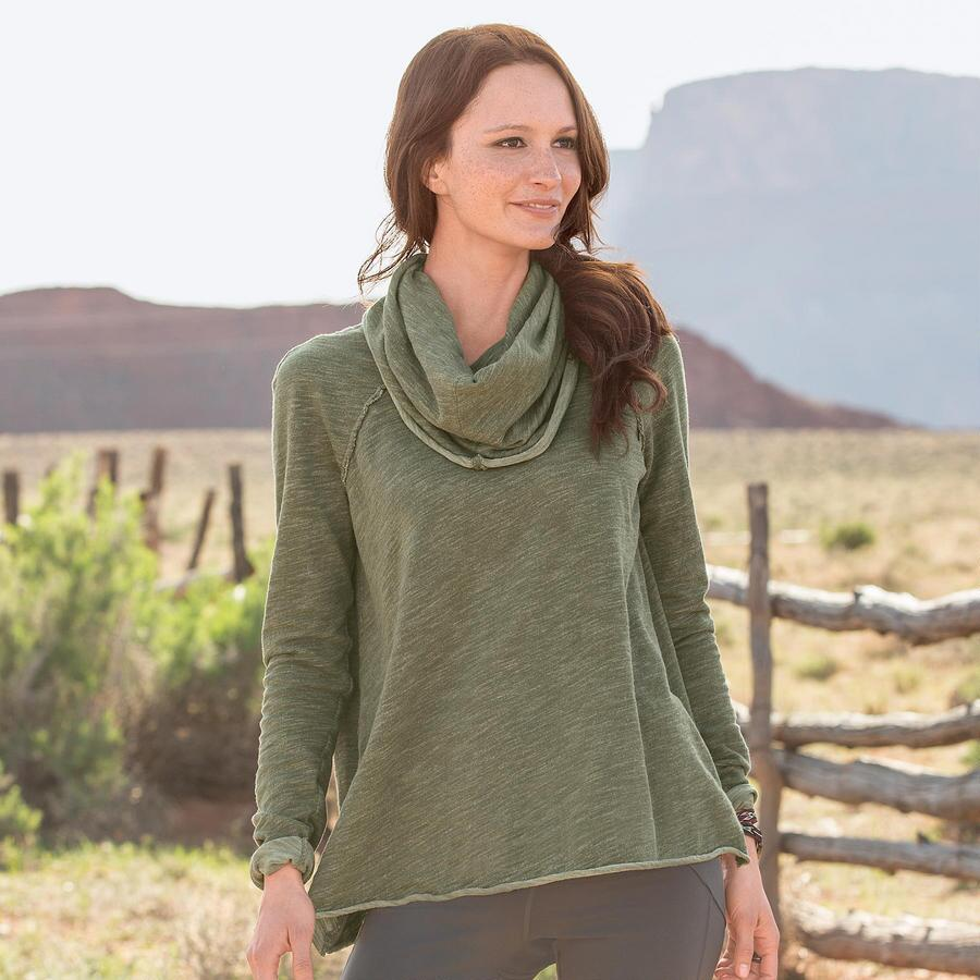PEACEFUL EASY COWLNECK