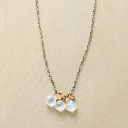 THREE MOONSTONES NECKLACE