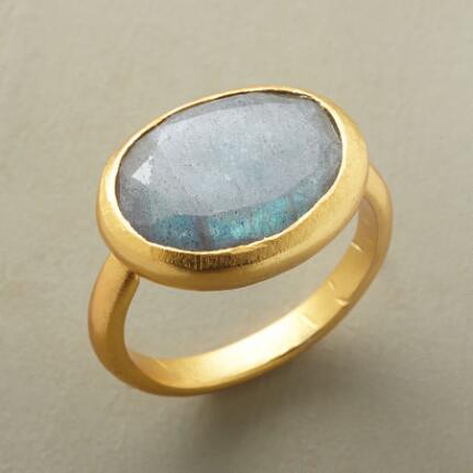 WINDOW ONTO LABRADORITE RING
