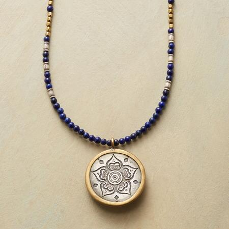 FLORAL AMULET NECKLACE