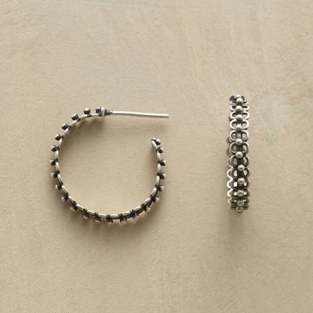 LOOPED AND BEADED HOOPS