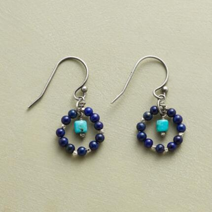 LAPIS WREATH EARRINGS
