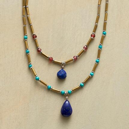 BLUES DUET NECKLACE