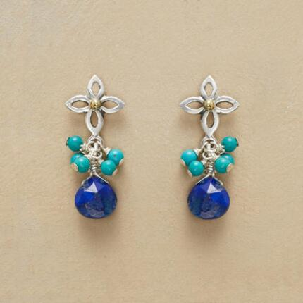 BLUE FLEUR EARRINGS