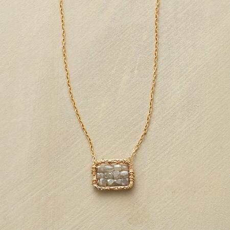 CHECKERBOARD DIAMOND NECKLACE