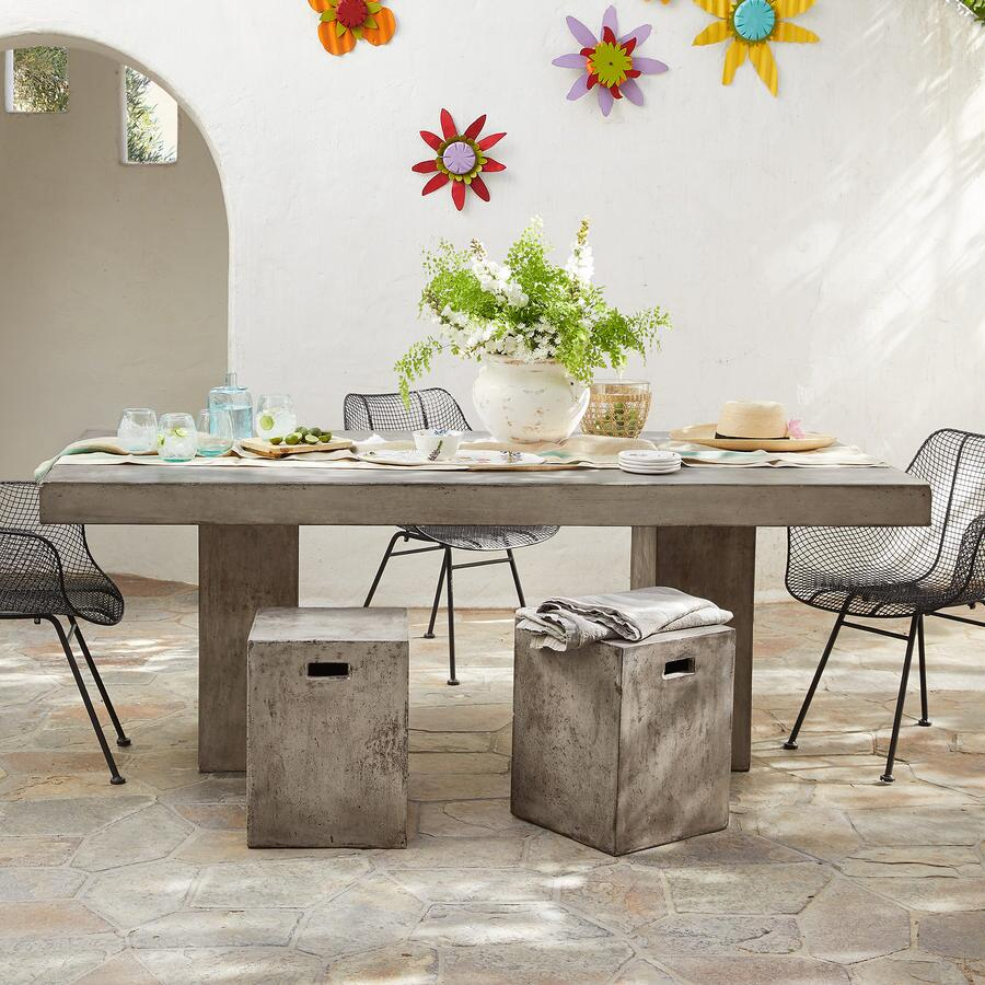 GRAVITAS CEMENT DINING TABLE 6