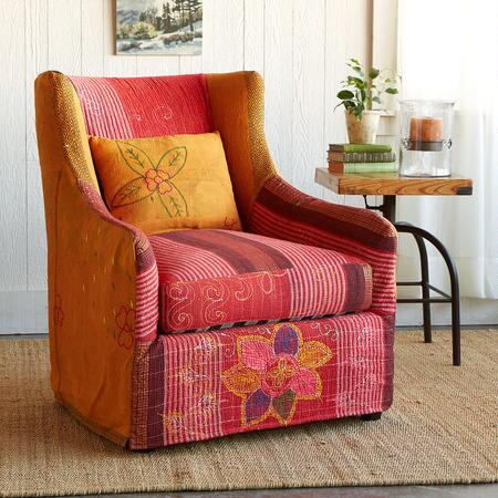 VARKALA SLIPCOVERED SARI CHAIR