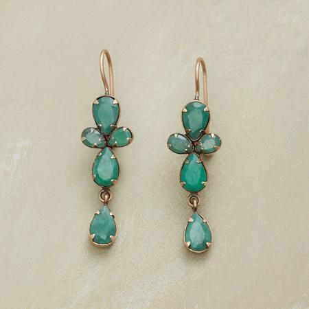 QUATREFOIL EMERALD EARRINGS
