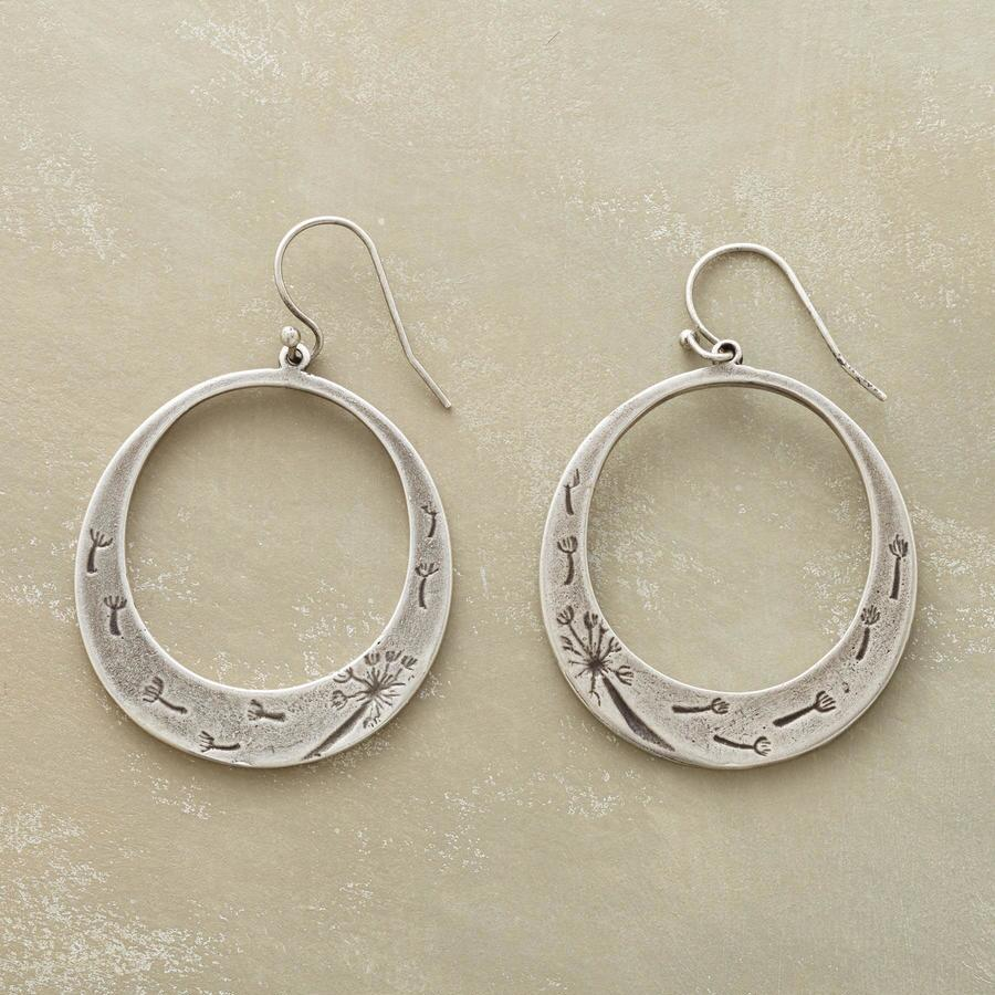 DANDELION WISHES HOOP EARRINGS