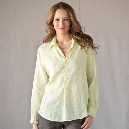 C P SHADES HONEYSUCKLE LINEN SHIRT