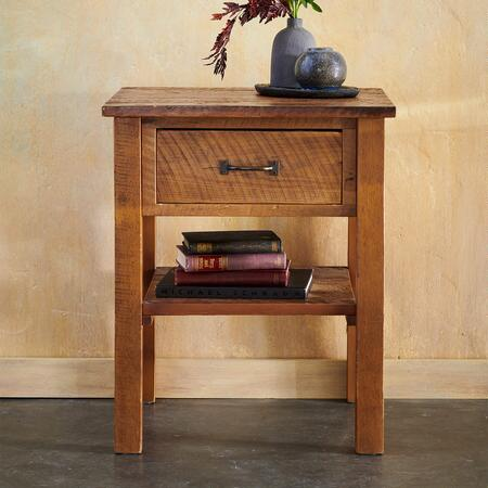 A simple pine nightstand that will make any bedside décor complete.