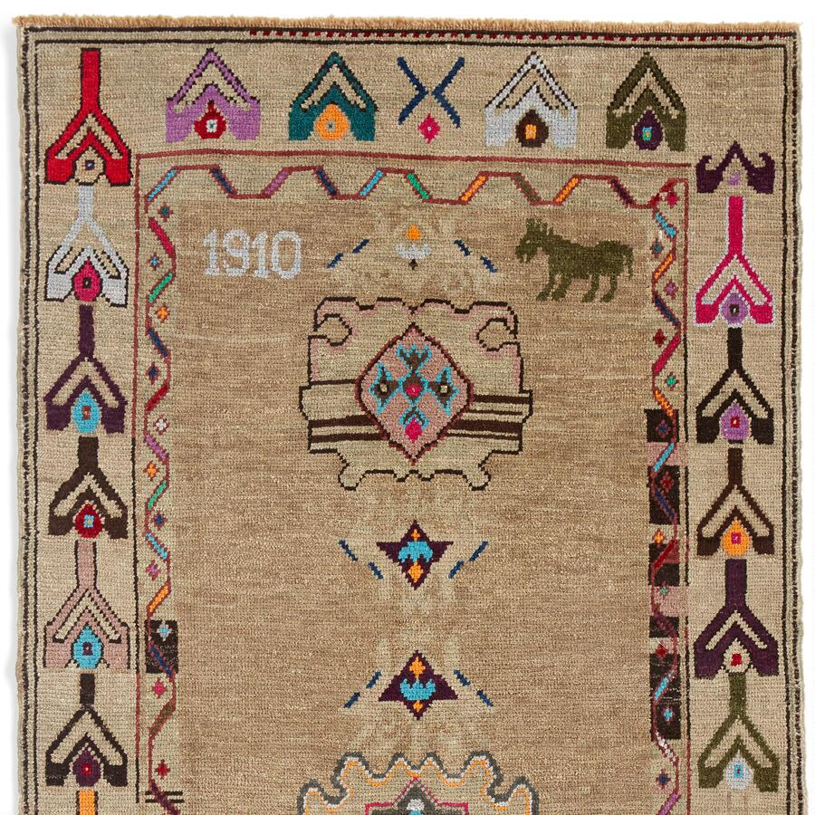 1910 MUSTANG KNOTTED RUG