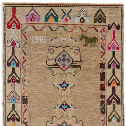 1910 MUSTANG KNOTTED RUG LARGE