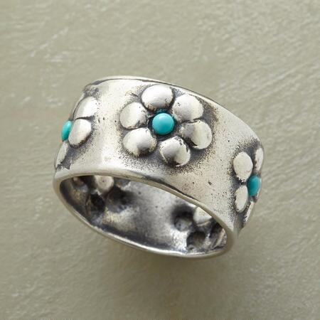 BLOOM IN BLUE RING
