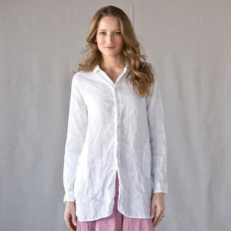 C P SHADES WINDWARD WHITE LINEN SHIRT