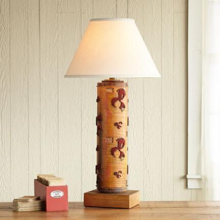 ONE-OF-A-KIND BURGHLEY VINTAGE ROLLER LAMP