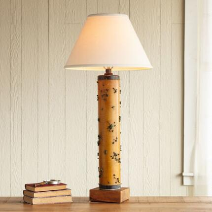 ONE-OF-A-KIND LYME VINTAGE ROLLER LAMP