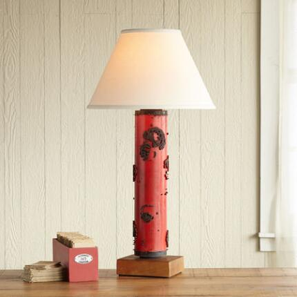ONE-OF-A-KIND HAREWOOD VINTAGE ROLLER LAMP
