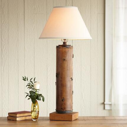 ONE-OF-A-KIND KNOLE VINTAGE ROLLER LAMP