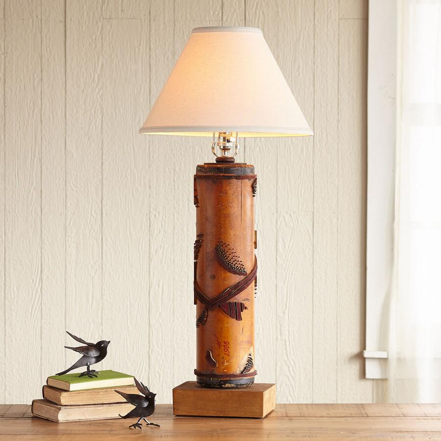 ONE-OF-A-KIND ASCOTT VINTAGE ROLLER LAMP