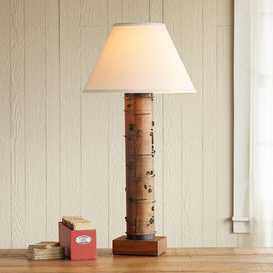 ONE-OF-A-KIND TRENTHAM VINTAGE ROLLER LAMP
