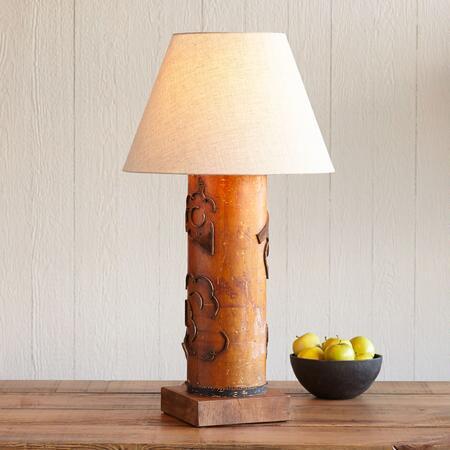 ONE-OF-A-KIND HAMPTON VINTAGE ROLLER LAMP
