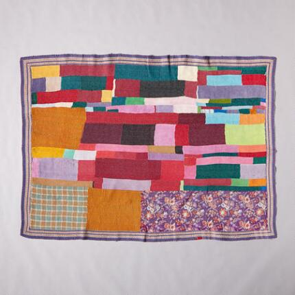 ONE-OF-A-KIND CERU-VILAI QUILTED THROW