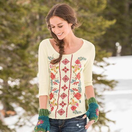 MOUNTAIN BLOOMS TOP