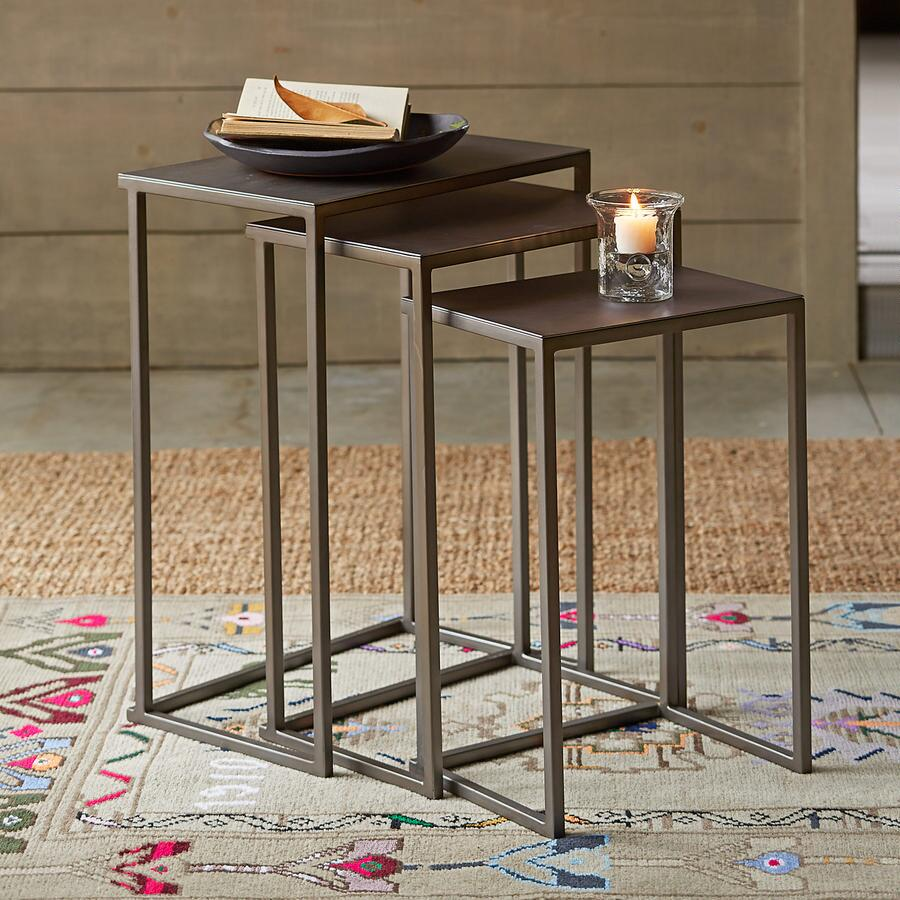WINCHESTER NESTING SIDE TABLES, SET OF 3