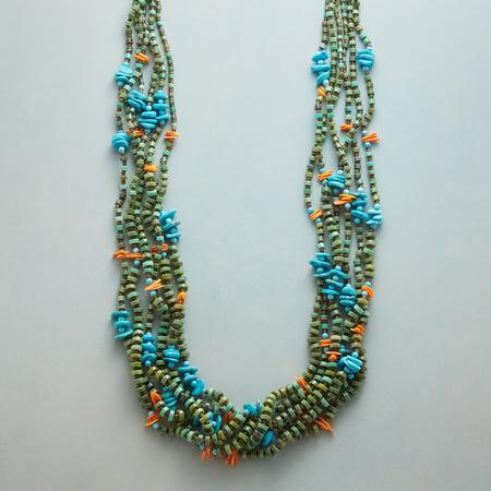 TURQUOISE SANTO DOMINGO PUEBLO NECKLACE