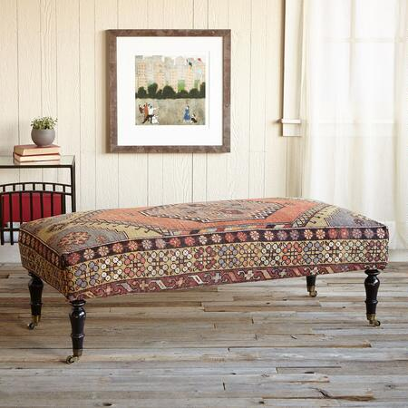 MYSIA TURKISH CARPET OTTOMAN