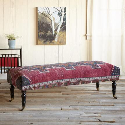 CARIA TURKISH CARPET OTTOMAN