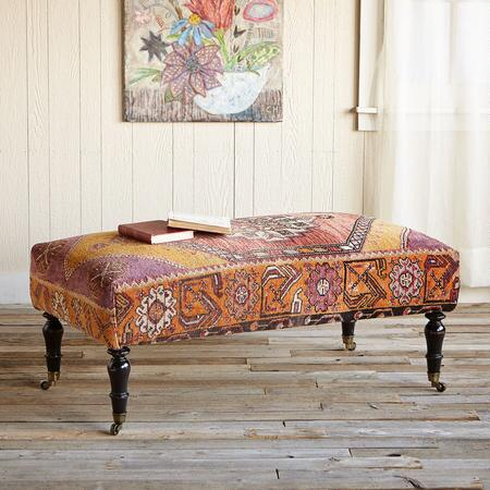 LYDIA TURKISH CARPET OTTOMAN