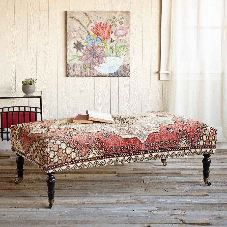 GALATIA TURKISH CARPET OTTOMAN