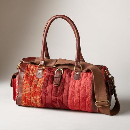 Accent your look with unique style with our patchwork cotton bags.