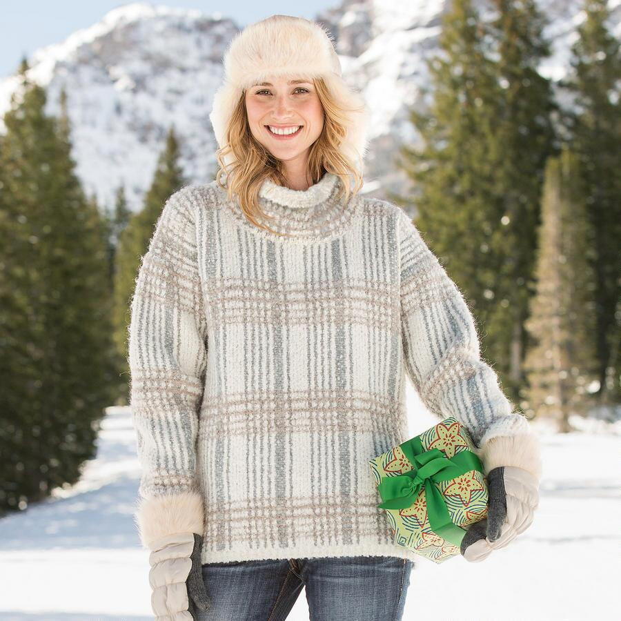 MELODY PLAID PULLOVER