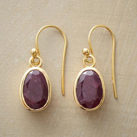 BURGUNDY WINDOW EARRINGS