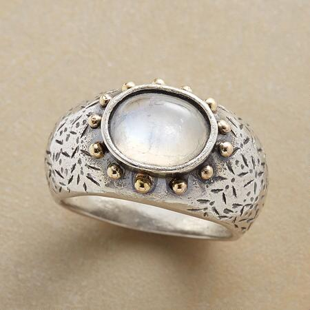 SUNLIT MOON RING
