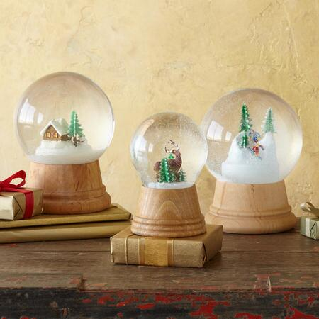 WINTERSCAPE AUTHENTIC SNOWGLOBES, SET OF 3